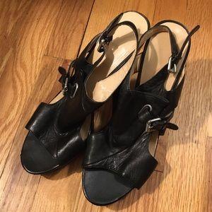 black straps genuin leather sexy high heel sandals